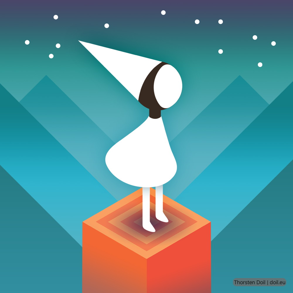 Prinzessin Ida aus Game Monument Valley