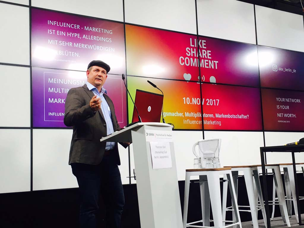 Interview Thorsten Doil zu Influencer Marketing bei MMM Berlin 2017 bei ALEX Berlin
